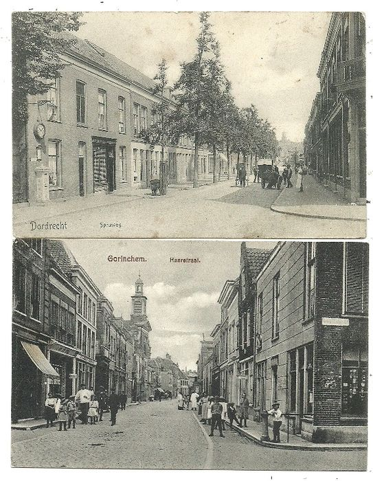 Postcards Villages and Cities South Holland (42x) (Collection) - 1900-1932