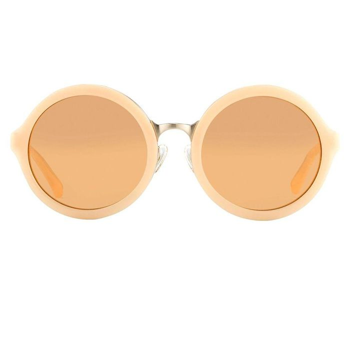"""Phillip Lim - Sunglasses with Round Apricot Brushed Gold and Dark Brown Lenses - PL11C15SUN """"NO RESERVE PRICE"""" Sunglasses"""