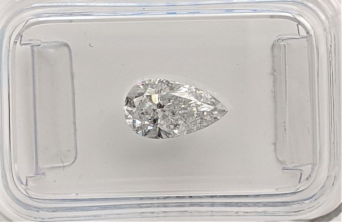 Diamond - 0.96 ct - Pear - G - I1, No Reserve Price