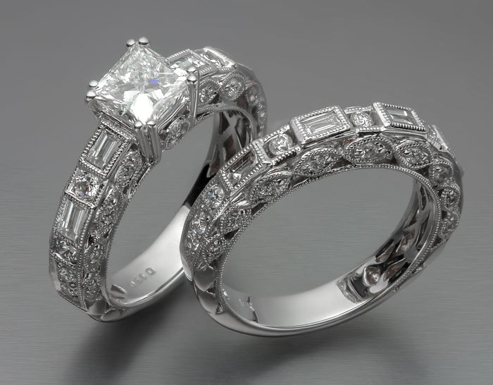 18 kt. - Ring - 1.03 ct Diamond - Diamonds