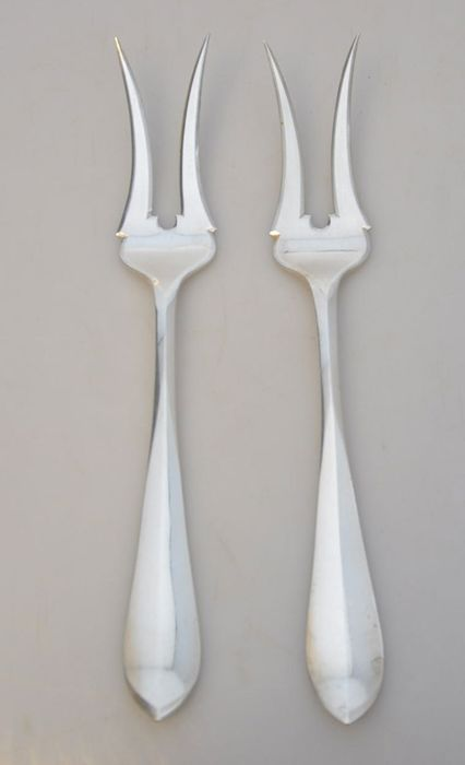 Meat forks (2) - .833 silver - Netherlands - Early 20th century