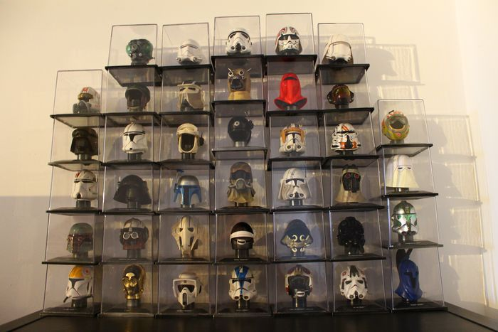 Star Wars - Lot of 39 - Helmets in original vinyl cases  - DeAgostini