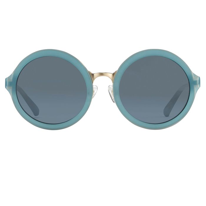 """Phillip Lim - Round Blue Brushed Gold and Navy Blue Lenses - PL11C16SUN """"NO RESERVE PRICE"""" Sunglasses"""