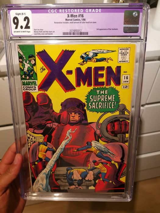 X-Men 16 - Very high grade cgc 9.2 (R) silver age X-men first mastermold cover 3rd sentinels! Key issue! - EO - (1966)