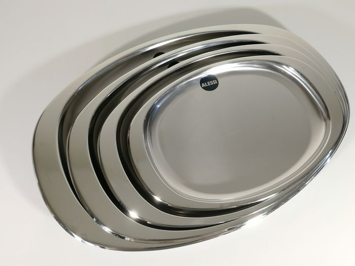 Carlo Mazzeri & Anselmo Vitale - Alessi - Set of 4 trays in stainless steel - Avio