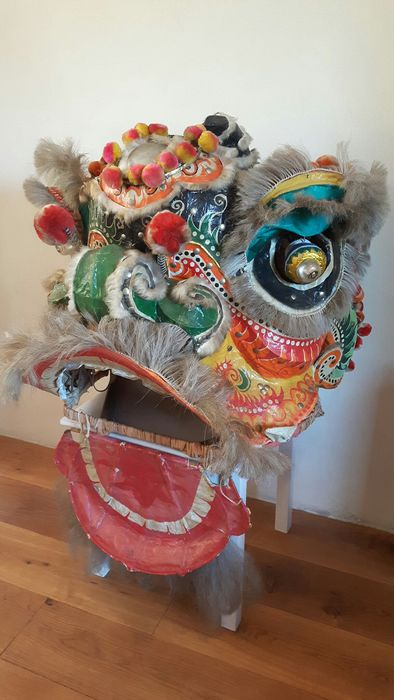 Chinese dragon dance mask (1) - Bamboo, Papier-mache, paint - Dragon - China - Second half 20th century