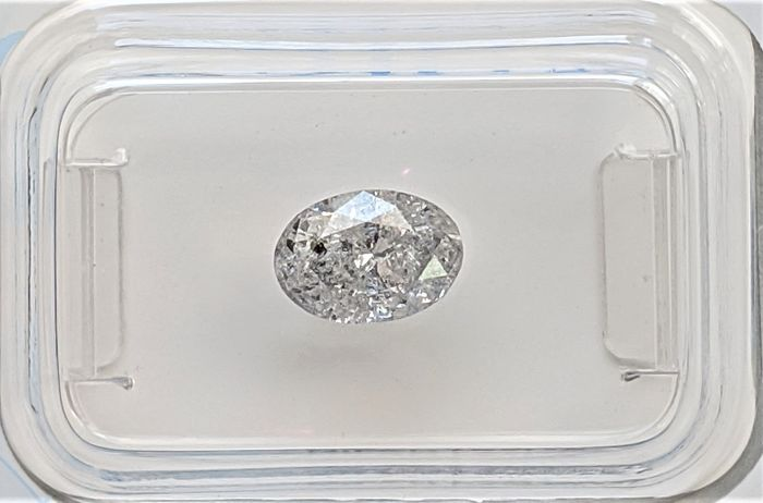 Diamond - 1.00 ct - Oval - E - I2, No Reserve Price