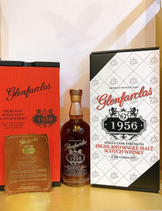 Glenfarclas 1956 62 years old Single Cask - one of 167 bottles - b. 2018 - 70cl