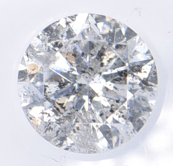 1 pcs Diamond - 0.71 ct - Brilliant, Round - H - I1     ** No Reserve Price **