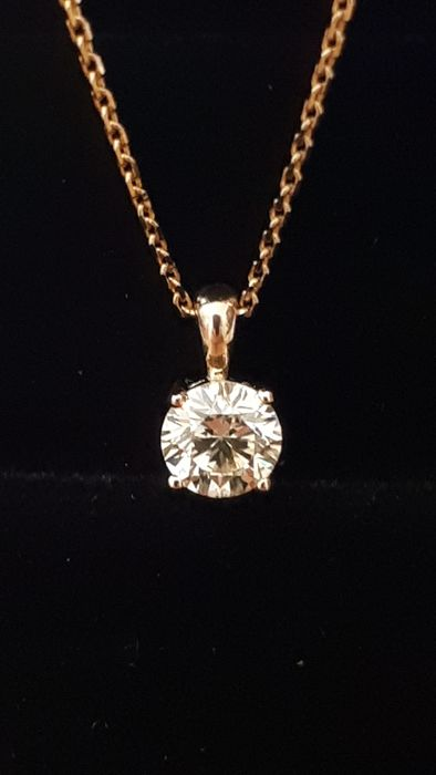 14 kt. Yellow gold - Necklace with pendant - 0.44 ct Diamond