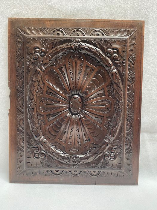 Panel with rosette - Chestnut - Late 19th century