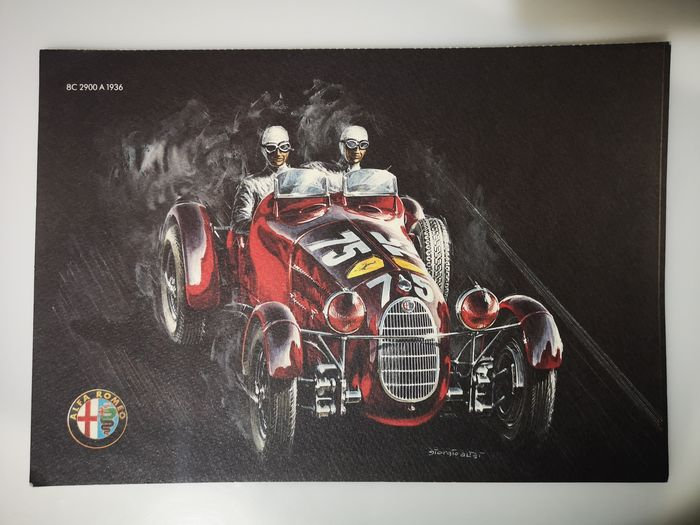 Collectible prints - Giulia TZ2       8c 2900A     33TT 12 - Alfa Romeo - 1990-2000