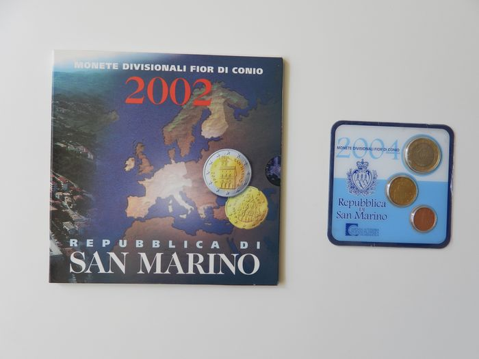 San Marino - Jaarset 2002 + Mini set 2004