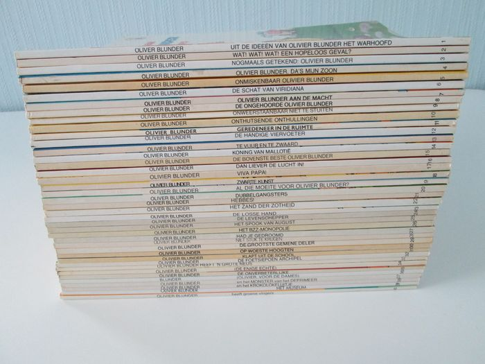 Olivier Blunder 1 t/m 40 - Volledige reeks in kleur - Softcover - Different editions - (1979/1998)