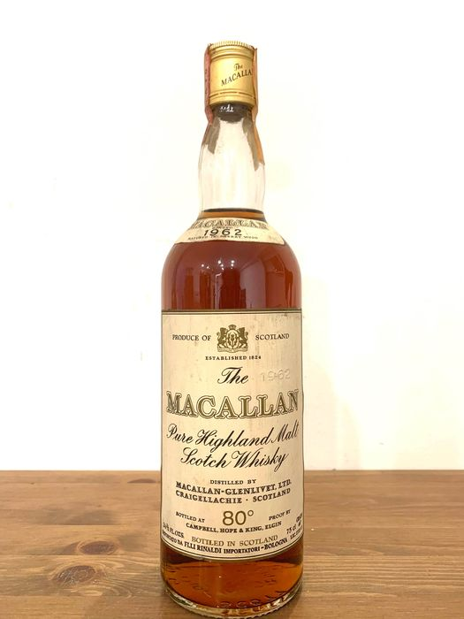 Macallan 1962 80° Proof Pure Highland Malt - Campbell, Hope and King - 75cl