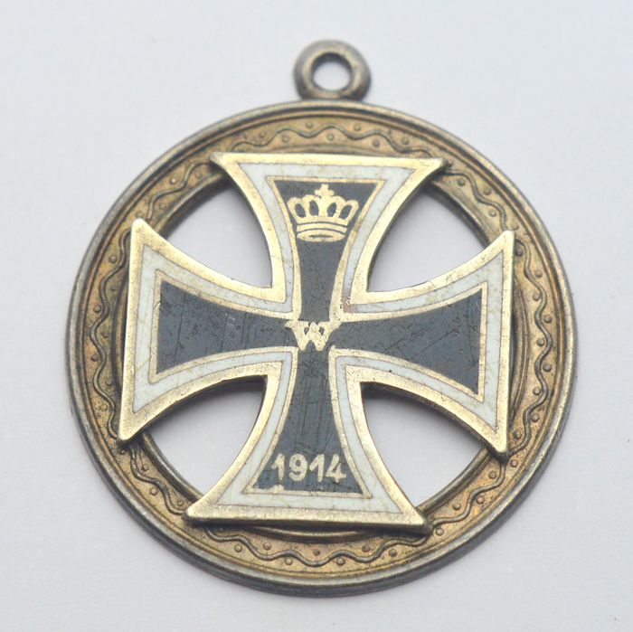 Germany - WW1 Ring - Prussia - 800 silver - Pendant - Medallion
