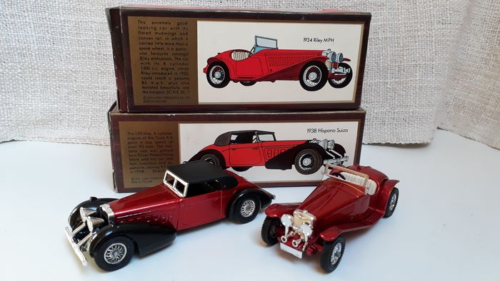 Matchbox - 1:35 - Y17 1938 Hispano Suiza 1973 1:48e - Y3 1934 Riley MPH 1973 1:35e