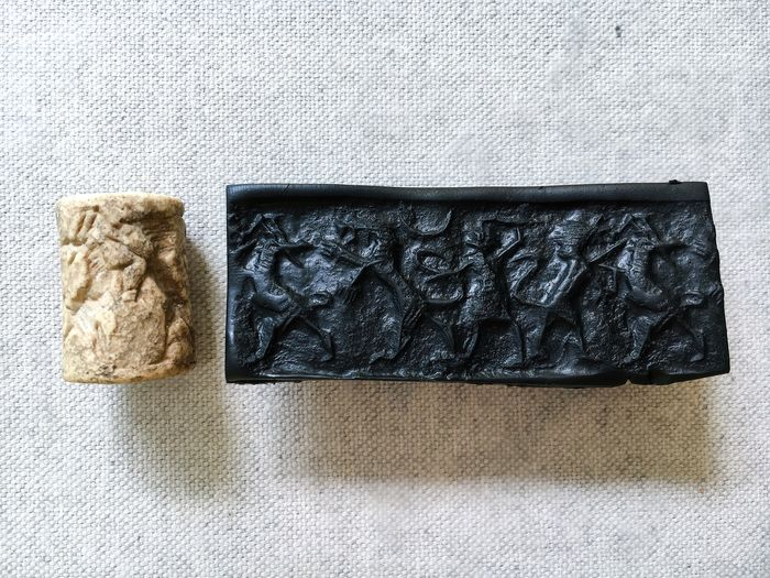 Mesopotamian Marble Early Dynastic II Cylinder Seal - 30×19.5×20.5 mm - (1)