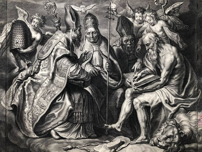 Peter Paul Rubens (1577-1640) Corn. Galle (1576-1650) - Four Fathers of the Church
