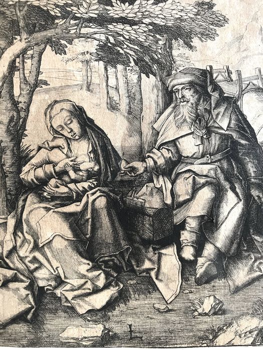 Lucas van Leyden (c. 1494-1533) - The Rest on the Flight into Egypt