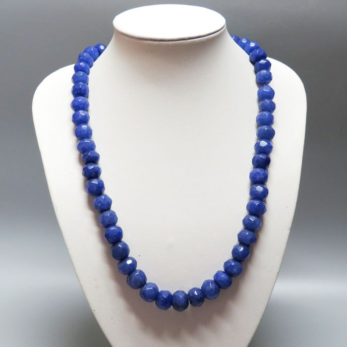 Sapphire (gem corundum of any color except red, especially blue varieties) Necklace - 56×1.6×1.1 cm - 126 g