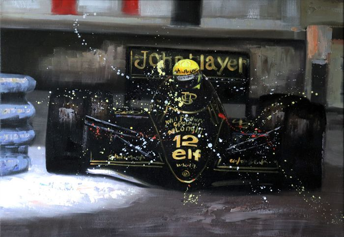Foto - Ayrton Senna John Player Special Lotus Renault 97T #12 : Fine ART print - Limited edition  - Lotus
