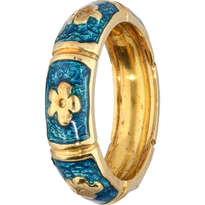 Hidalgo - 18 kt Gold - Ring Emaille