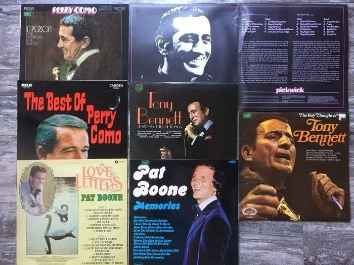 Tony Bennett, Perry Como, Pat Boone - Million Selles from USA - Multiple titles - LP Album, LP's - 1966/1967