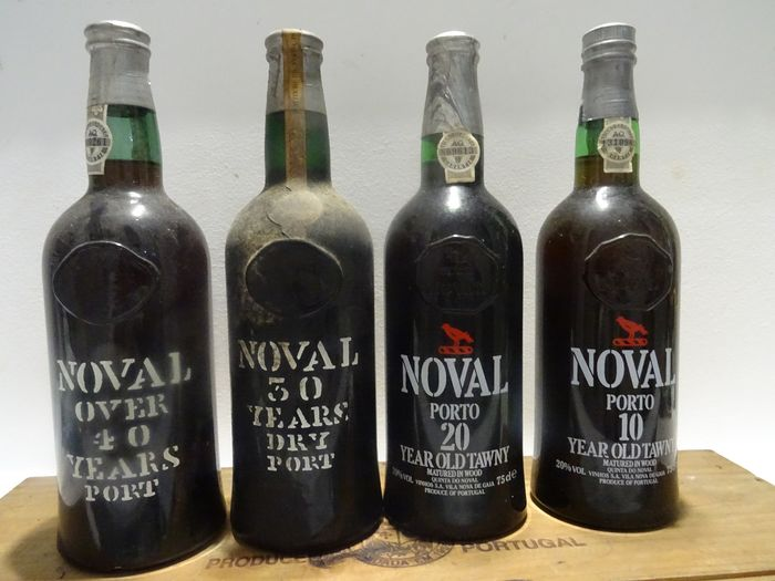 Mixed lot -  Quinta do Noval: Over 40 & 30 & 20 & 10 Years Old Tawny Port - 4 Bottles (0.75L)