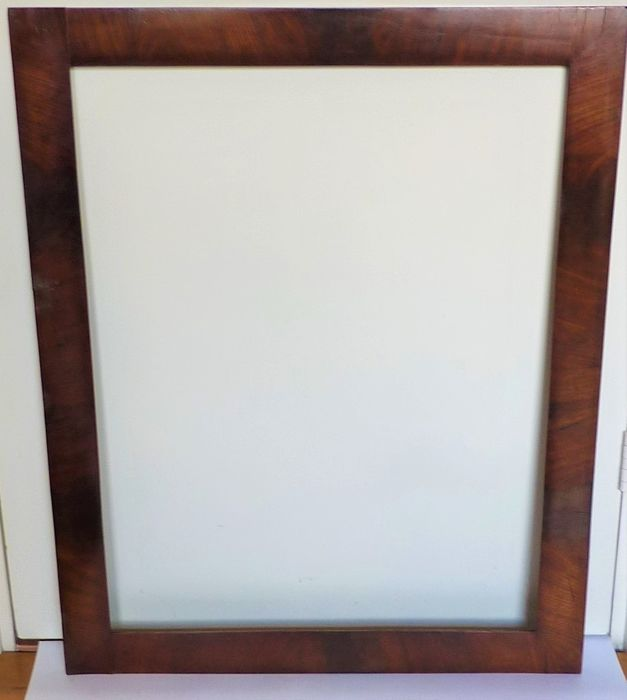 Picture or mirror frame - Mahogany on oak - Early 20th century