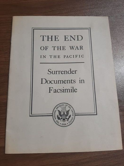 USA - Official Facsimiles of Japanese Unconditional Surrender Documents - Pacific - Atomic Bomb - 1945