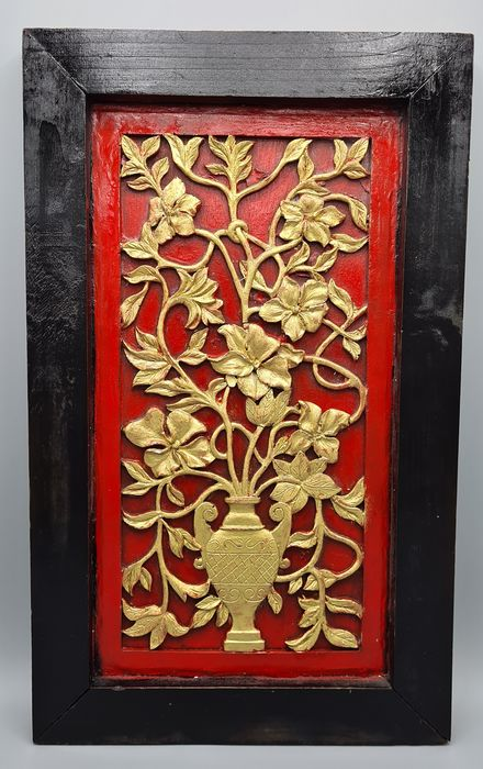 Large Lacquered Panel - Wood - China - Late 20th century