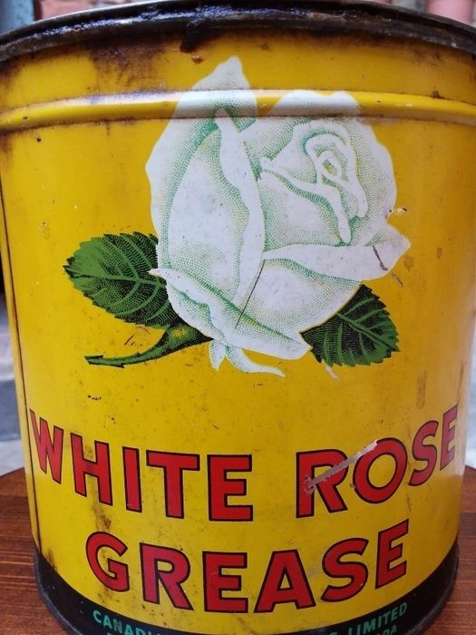 Pressure Grease Can - White Rose - 1930-1940