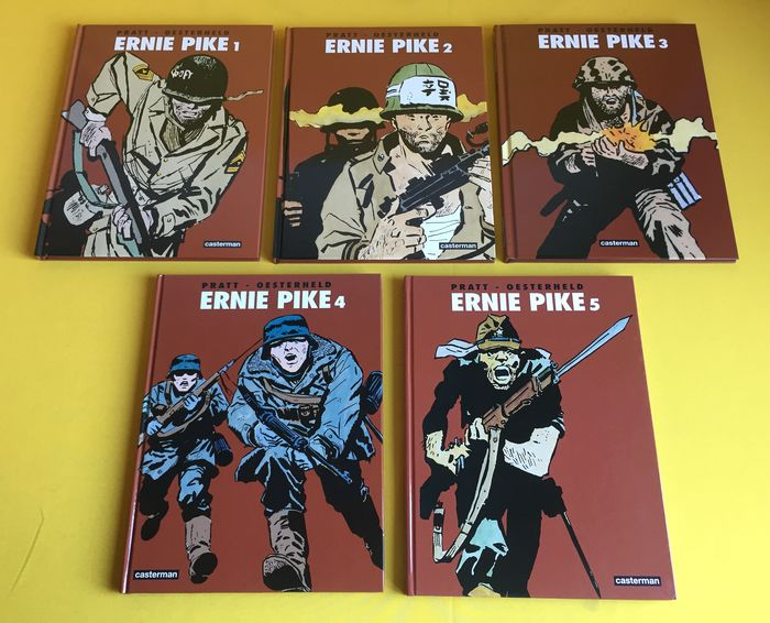 Ernie Pike 1 t/m 5 - Complete reeks - Hardcover - First edition - (2004/2008)