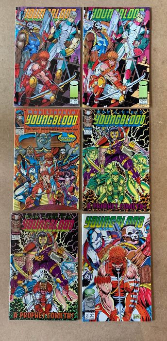 Youngblood -50X -Complete Collection of ALL Complete Series Yearbook, Battlezone, Strikefile, Super Special, Team Youngblood - Spawn, Savage Dragon, Badrock, Vogue, Link, Chapel, Die Hard, Prophet, Sentinel, Shaft - Broché - EO - (1993/2016)
