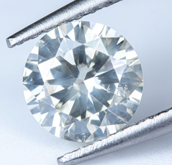Diamond - 1.00 ct - Natural White - K color - SI2