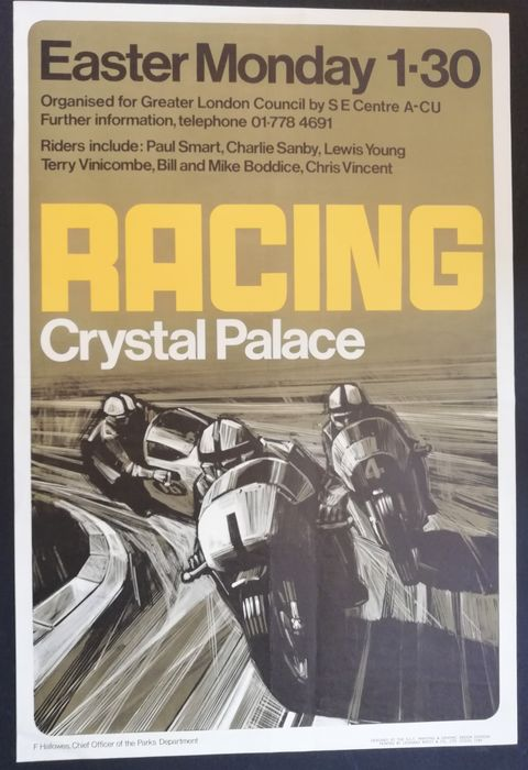 Poster - Racing Crystal Place - 1950-1960