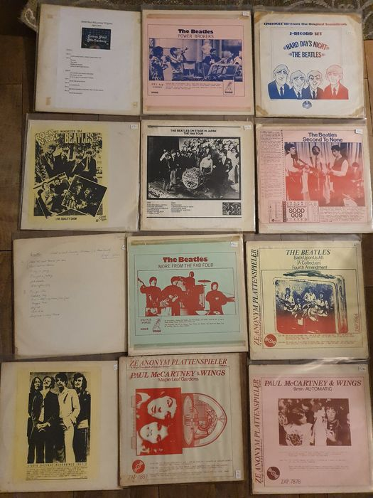 Beatles - 12 Unofficial Releases - Multiple titles - 2xLP Album (double album) - 1969/1979