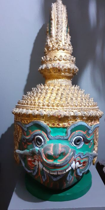 Mask, Ramakien Theater (Khon) (1) - Papier Mache - Thailand - Second half 20th century