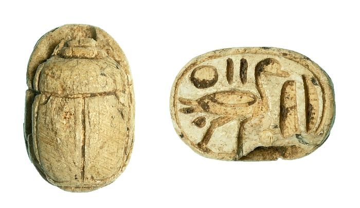 Ancient Egyptian Faience Scarab amulet