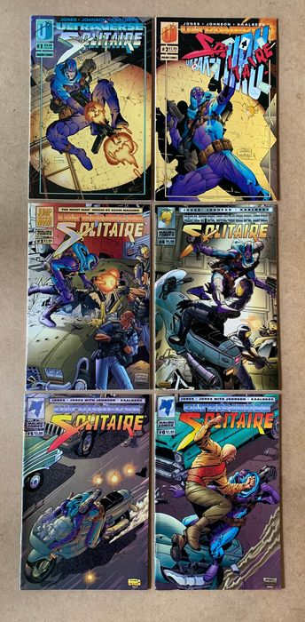 Malibu Comics Lot -52X -Collection of Complete Series - Solitaire, Strangers, Warstrike & Wrath - Broché - EO - (1993/1994)