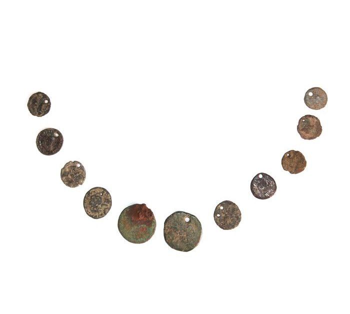 Early medieval Bronze Anglo Saxon mixed group of bronze pendants