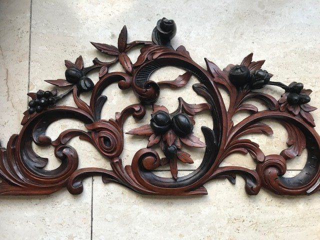 Imposing wooden carving piece - 84 cm - Mahogany - about 1880