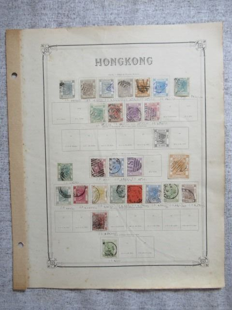 Hong Kong 1862/1908 - Collection of stamps