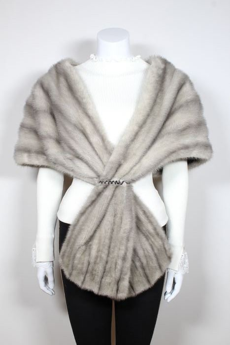 Saphir Nerz Stola - Mink fur - Cape, Fur coat, stole - Made in: Germany