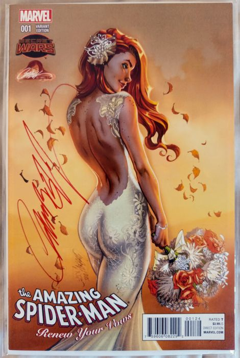 Marvels - The Amazing Spider-Man # 1 Signed by J Scott Campbell 9.8 NM !!! - J. SCOTT CAMPBELL Variant
