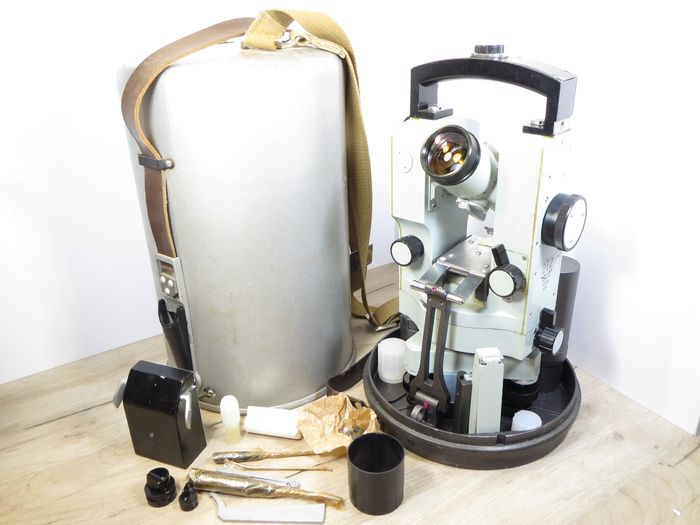 """Plant """"Geophysics"""". Moscow Astronomical Theodolite """"2T2"""" (1986) USSR. FULL SET!!"""