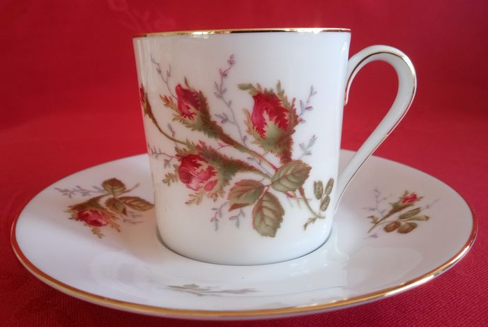 Rosenthal - Six coffee or tea cups and saucers - Romantic - Porcelain