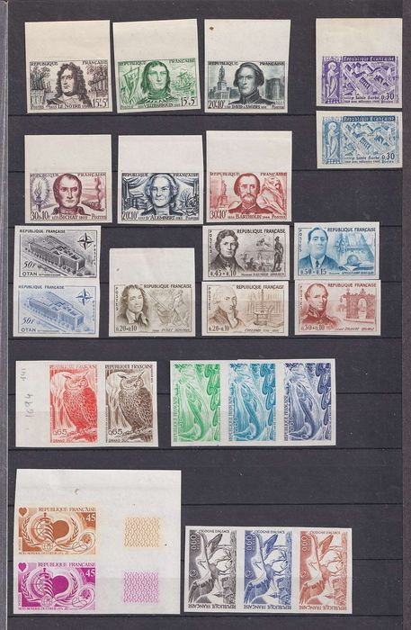 França - 25 progressive proofs not adopted from the 1950s to 1970s - Yvert entre 1207 & 1755