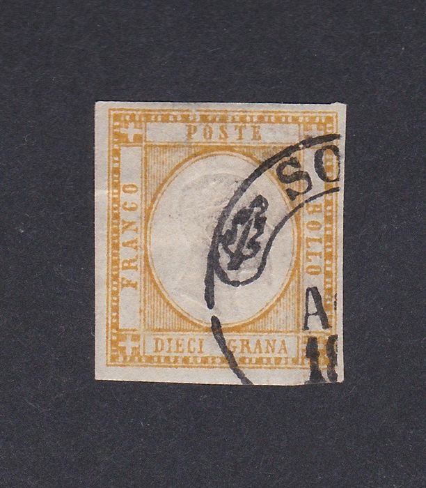Italy 1862 - 10 gr. orange yellow - Sassone N. 22e